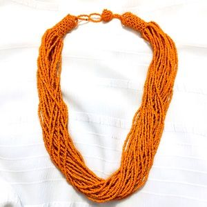 🌟5/$25🌟Orange Seed Bead Layered Necklace